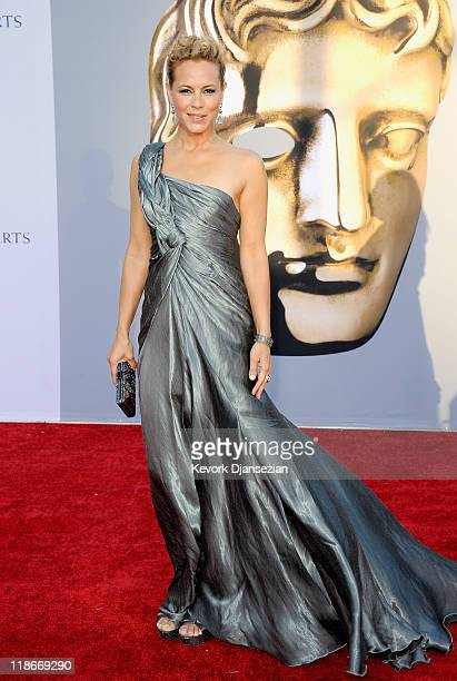 Actress Maria Bello arrives at the BAFTA Brits To Watch event held at the Belasco Theatre on July 9 2011 in Los Angeles California