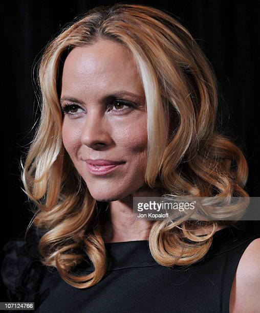 Actress Maria Bello arrives at the DIC/InStyle's 9th Annual Awards Season Diamond Fashion Show Preview at Beverly Hills Hotel on January 14 2010 in...