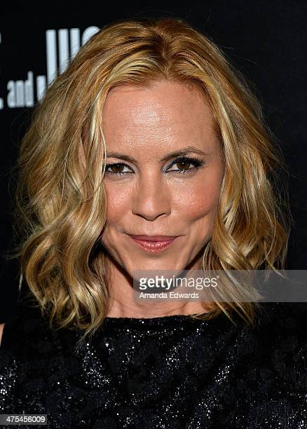 Actress Maria Bello arrives at the Hollywood Domino's 7th Annual PreOscar Charity Gala at Sunset Tower on February 27 2014 in West Hollywood...