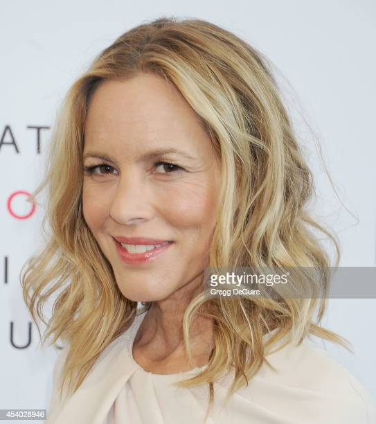 Actress Maria Bello arrives at the National Women's History Museum's 3rd Annual Women Making History event at Skirball Cultural Center on August 23...