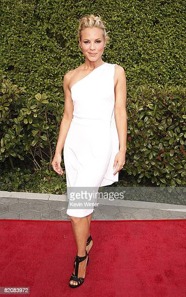 Actress Maria Bello arrives at the premiere of Universal Picture's The Mummy Tomb of the Dragon Emperor at the Gibson Amphitheatre on July 27 2008 in...