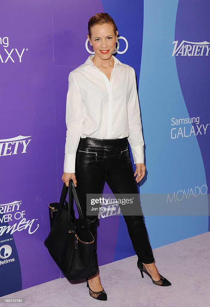 Actress Maria Bello arrives at Variety's 5th Annual Power Of Women Event at the Beverly Wilshire Four Seasons Hotel on October 4, 2013 in Beverly Hills, California.