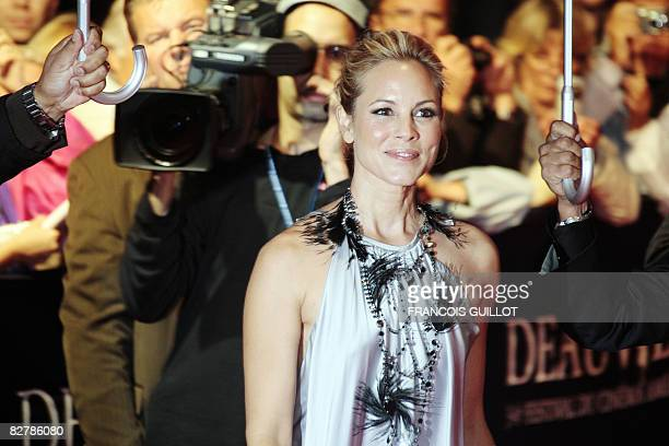 US actress Maria Bello arrives for the screening of The yellow handkerchief directed by Udayan Prasad on September 11 at the 34th US Film Festival on...
