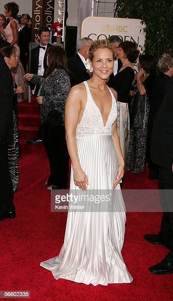 Actress Maria Bello arrives to the 63rd Annual Golden Globe Awards at the Beverly Hilton on January 16 2006 in Beverly Hills California
