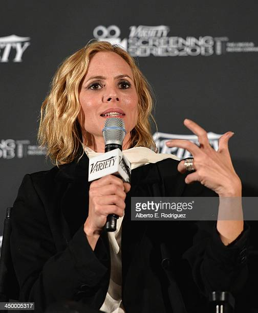 Actress Maria Bello attend the 2013 Variety Screening Series Presents Warner Bros's Prisoners at ArcLight Hollywood on November 15 2013 in Hollywood...