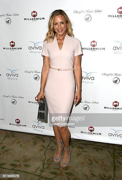 Actress Maria Bello attends A Gala to honor Avi Lerner and Millennium Films at The Beverly Hills Hotel on April 16 2016 in Beverly Hills California