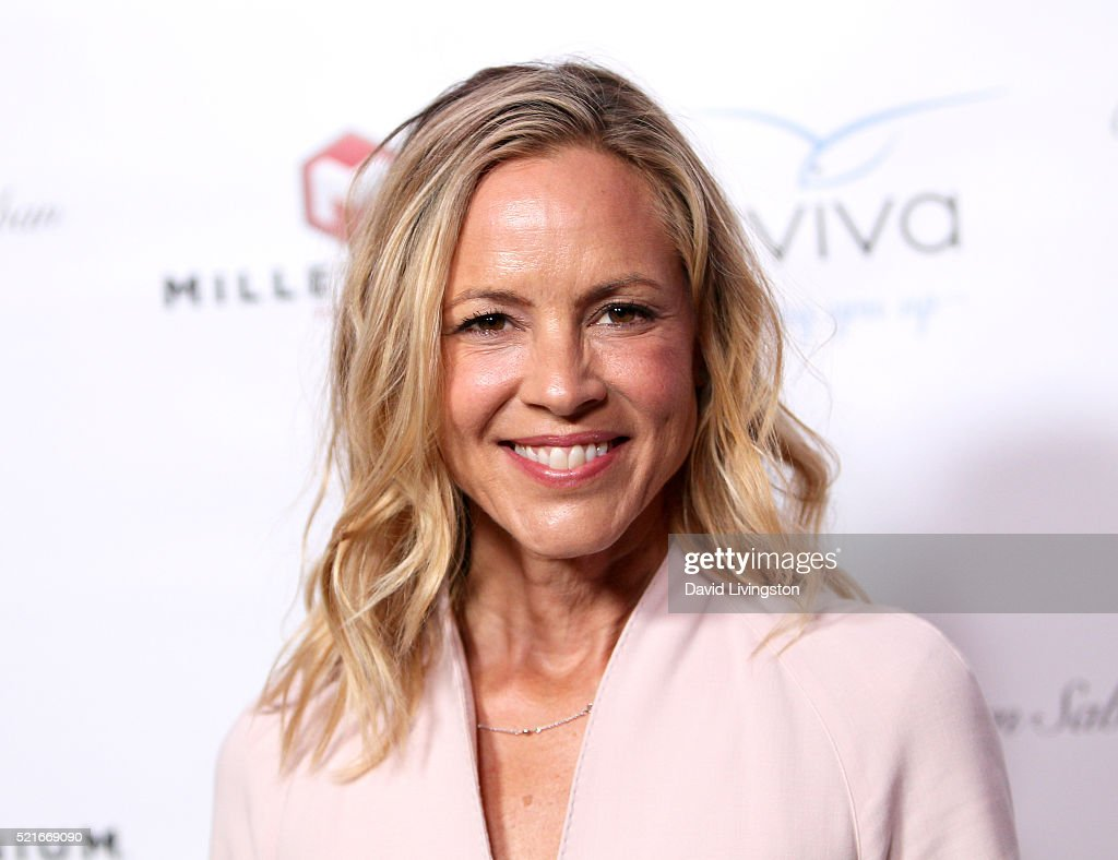 Actress Maria Bello attends A Gala to honor Avi Lerner and Millennium Films at The Beverly Hills Hotel on April 16, 2016 in Beverly Hills, California.