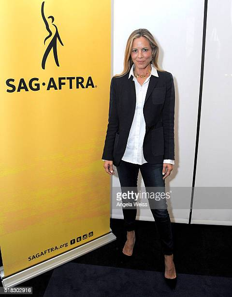 Actress Maria Bello attends SAGAFTRA EPIX The MDSC Initiative at USC Annenberg present panel discussion and screening of 'The 4% Film's Gender...