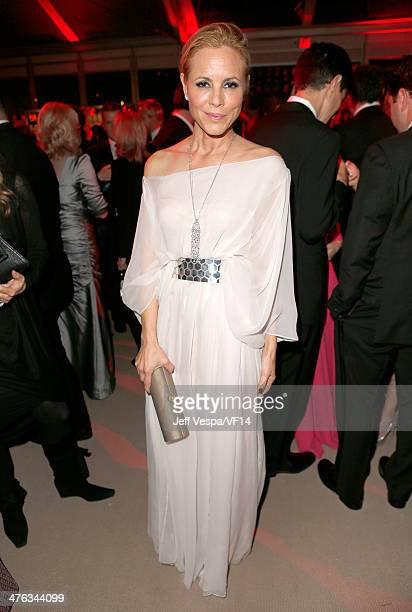 Actress Maria Bello attends the 2014 Vanity Fair Oscar Party Hosted By Graydon Carter on March 2 2014 in West Hollywood California