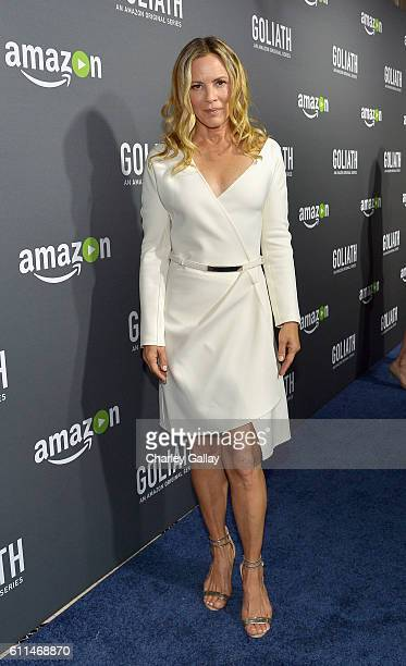 Actress Maria Bello attends the Amazon red carpet premiere screening of original drama series 'Goliath' at The London West Hollywood on September 29...