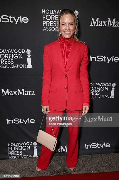 Actress Maria Bello attends the Hollywood Foreign Press Association and InStyle's annual celebration of the Toronto International Film Festival at...