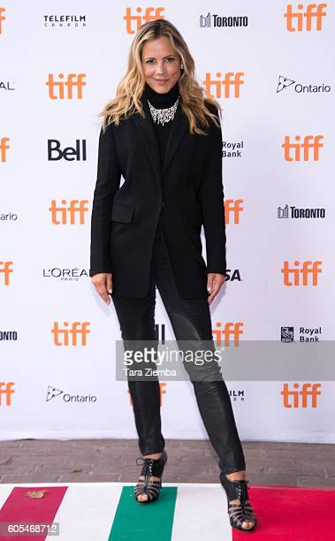 Actress Maria Bello attends the 'Mean Dreams' premiere wearing a Birks necklace during the 2016 Toronto International Film Festival at Ryerson...