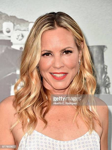 Actress Maria Bello attends the premiere of New Line Cinema's Lights Out at the TCL Chinese Theatre on July 19 2016 in Hollywood California