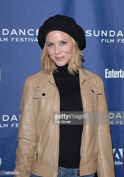 Actress Maria Bello attends the premiere of The Yellow Handkerchief during the 2008 Sundance Film Festival at the Eccles Theatre on January 18 2008...