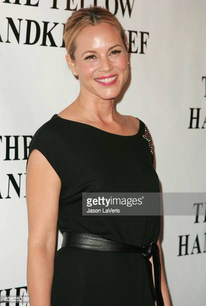 Actress Maria Bello attends the premiere of The Yellow Handkerchief at The WGA Theater on November 25 2008 in Beverly Hills California