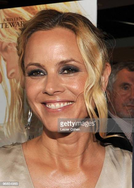 Actress Maria Bello attends the The Yellow Handkerchief Los Angeles premiere at Pacific Design Center on February 18 2010 in West Hollywood California