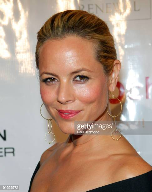 Actress Maria Bello attends the Vintage Valentino Benefit for MOCA at The Geffen Contemporary at MOCA on October 15 2009 in Los Angeles California
