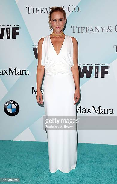 Actress Maria Bello attends the Women in Film 2015 Crystal Lucy Awards at the Hyatt Regency Century Plaza Hotel on June 16 2015 in Los Angeles...
