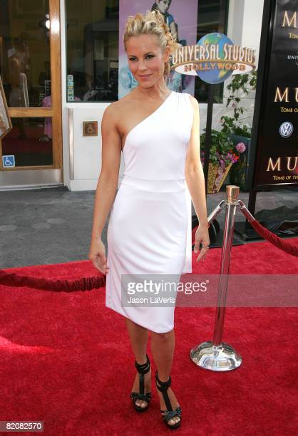 """Actress Maria Bello attends Universal Picture's premiere of """"The Mummy: Tomb of The Dragon Emperor"""" at Universal City Walk on July 27, 2008 in..."""