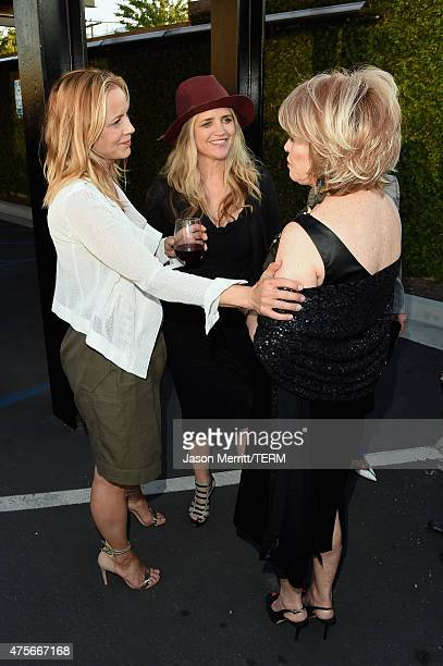 Actress Maria Bello CEO and founder of The Communication Group Clare Munn and Sundance Institute board chair Pat Mitchell attend the 2015 Sundance...