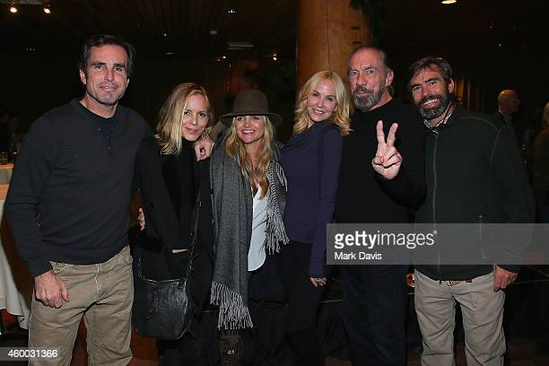 Actress Maria Bello Clare Munn Eloise Broady John Schnatter guest attend the Deer Valley Celebrity Skifest held at the Empire Lodge on December 5...