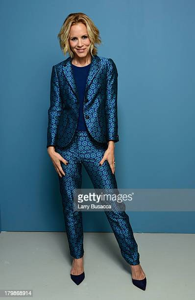 Actress Maria Bello of 'Prisoners' poses at the Guess Portrait Studio during 2013 Toronto International Film Festival on September 7 2013 in Toronto...