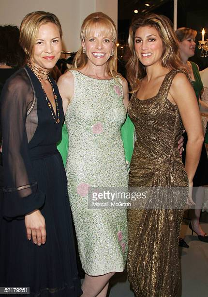 Actress Maria Bello, Owner of Paper Bag Princess Boutique and Elizabeth Mason and actress Jennifer Esposito pose at the grand opening of The Paper...