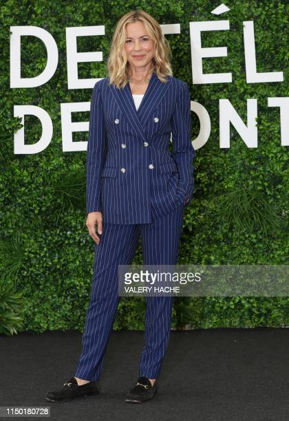 US actress Maria Bello poses during a photocall for the TV show NCIS as part of the 59th MonteCarlo Television Festival on June 16 2019 in Monaco