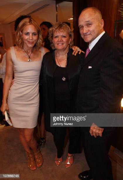 Actress Maria Bello President of Judith Leiber Mary Gleason and NYC Police Commisioner Ray Kelly attend Judith Leiber's Haiti Pendant Initiative on...