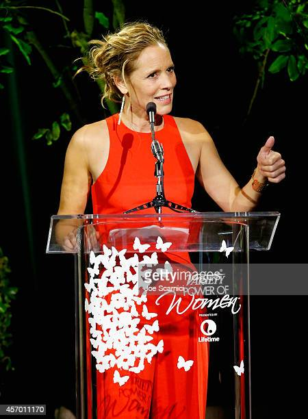 Actress Maria Bello speaks onstage at 2014 Variety Power of Women presented by Lifetime at Beverly Wilshire Four Seasons on October 10 2014 in Los...