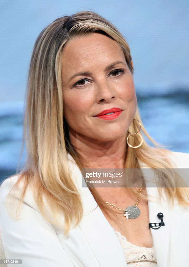 Actress Maria Bello speaks onstage at 'Goliath' panel discussion during the Amazon portion of the 2016 Television Critics Association Summer Tour at The Beverly Hilton Hotel on August 7, 2016 in Beverly Hills, California.
