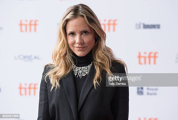Actress Maria Bello wearing a Birks necklace attends the 'Mean Dreams' premiere wearing a Birks necklace during the 2016 Toronto International Film...