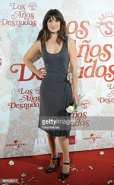 Actress Maria Botto attends the 'Los Aos Desnudos' premiere at the Capitol Cinema on October 23 2008 in Madrid Spain