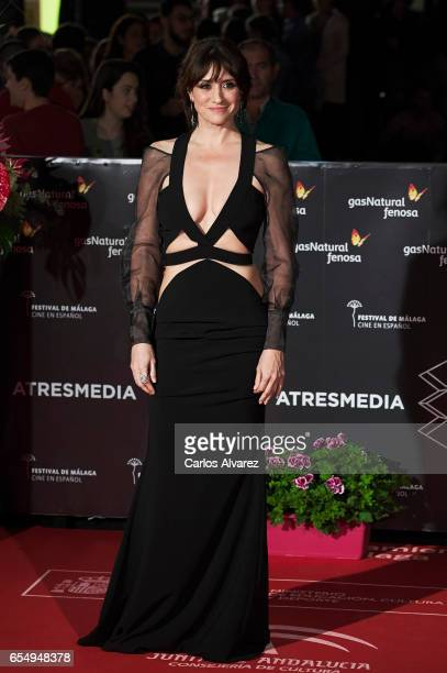 Actress Maria Botto attends the 'Nieve Negra' premiere during the 20th Malaga Film Festival 2014 Day 2 at the Cervantes Theater on March 18 2017 in...