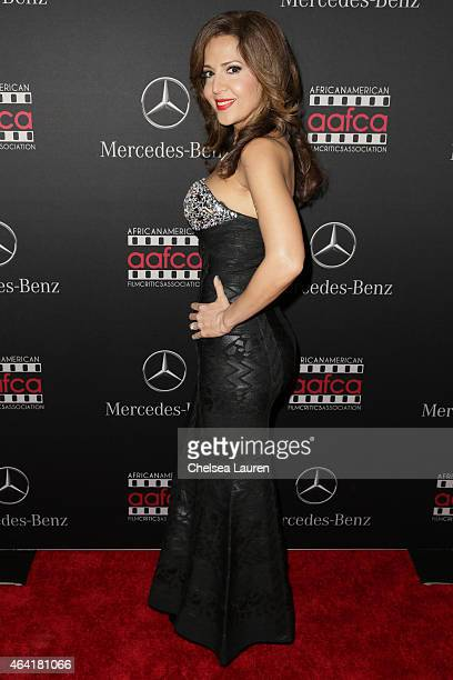 Actress Maria Canals Barrera attends MercedesBenz USA and African American Film Critics Association Academy Awards viewing party on February 22 2015...