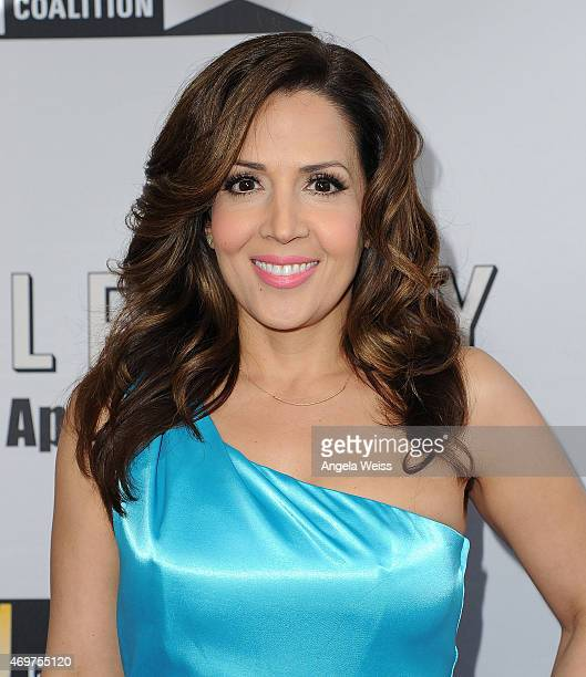 Actress Maria Canals Barrera attends the premiere of Open Road Films' 'Little Boy' at Regal Cinemas LA Live on April 14 2015 in Los Angeles California