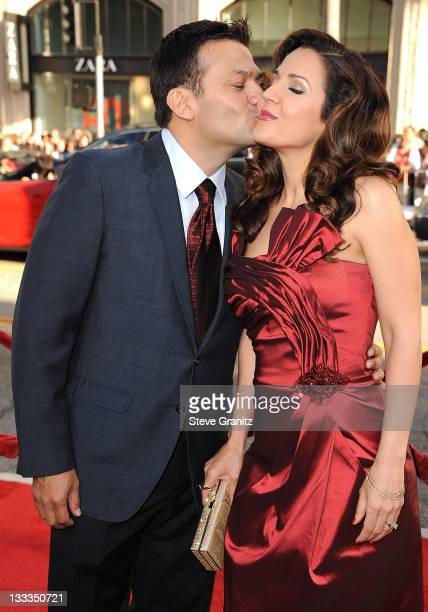 Actress Maria CanalsBarrera and David Barrera attends the 'Larry Crowne' Los Anglees Premiere at Grauman's Chinese Theatre on June 27 2011 in...