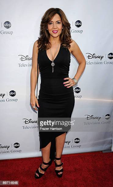 Actress Maria CanalsBarrera arrives at DisneyABC Television Group Summer Press Tour Party at The Langham Hotel on August 8 2009 in Pasadena California