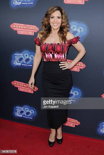 Actress Maria CanalsBarrera arrives at the Premiere Of 100th Disney Channel Original Movie 'Adventures In Babysitting' And Celebration Of All DCOMS...