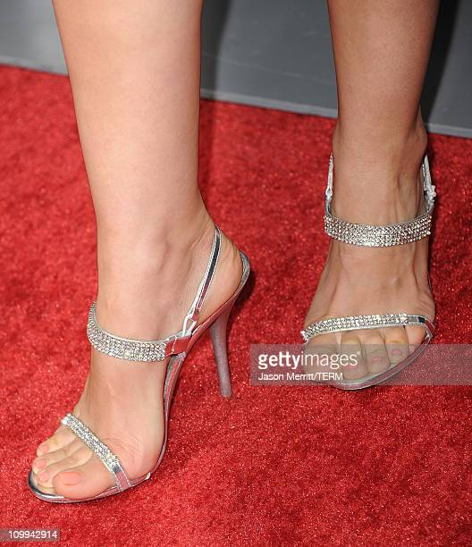 Actress Maria CanalsBarrera arrives at the The Lincoln Lawyer Los Angeles screening held at ArcLight Cinemas on March 10 2011 in Hollywood California