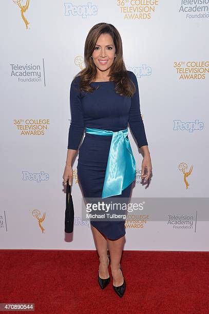 Actress Maria CanalsBarrera attends the 36th College Television Awards at Skirball Cultural Center on April 23 2015 in Los Angeles California