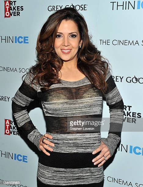 Actress Maria CanalsBerrera attends The Cinema Society Grey Goose screening of Thin Ice at the Tribeca Grand Hotel on February 6 2012 in New York City