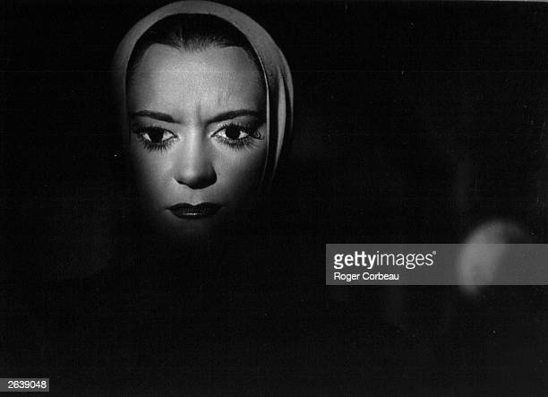 Actress Maria Casares plays Death in the form of The Princess in French director Jean Cocteau's surreal film 'Orphee' or 'Orpheus'