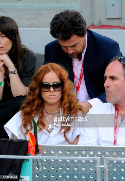 Actress Maria Castro attends Madrid Open tennis tournament at La Caja Magica on May 15 2009 in Madrid Spain