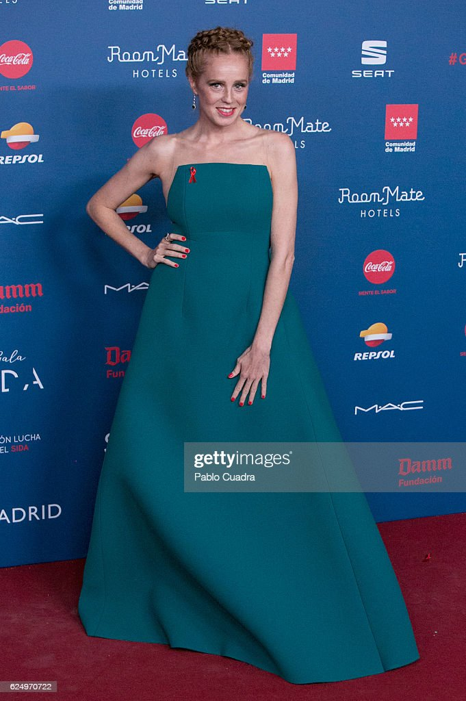 Actress Maria Castro attends the 'Gala Sida' 2016 at Cibeles Palace on November 21, 2016 in Madrid, Spain.