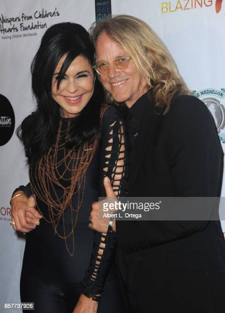 Actress Maria Conchita Alonso and guest arrive for the Whispers From Children's Hearts Foundation's 3rd Legacy Charity Gala held at Casa Del Mar on...