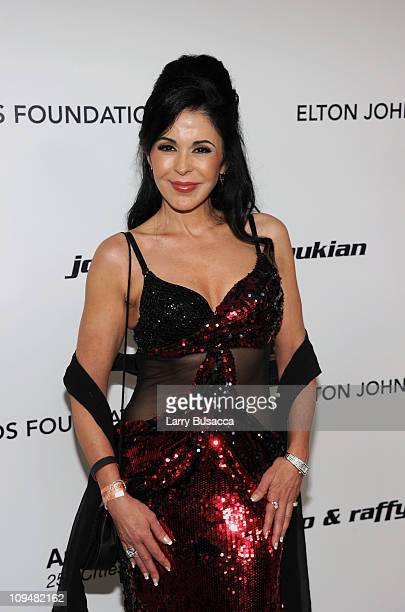 Actress Maria Conchita Alonso arrives at the 19th Annual Elton John AIDS Foundation Academy Awards Viewing Party at the Pacific Design Center on...