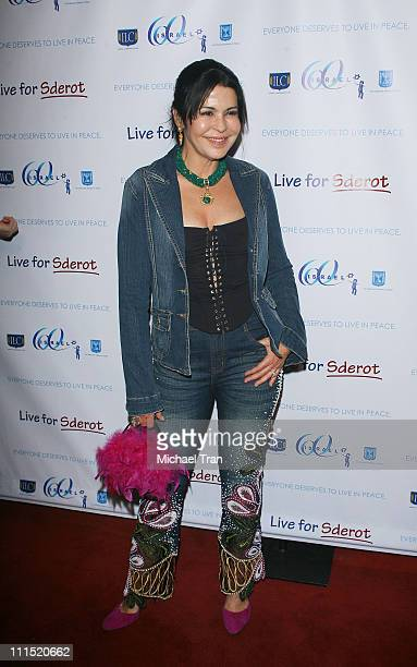 Actress Maria Conchita Alonso arrives at the Live For Sderot a benefit concert for Israel's 60th Anniversary of Independence celebration in the...
