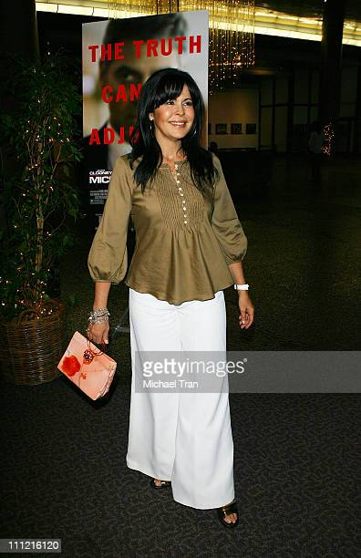 Actress Maria Conchita Alonso arrives at the Los Angeles screening of Michael Clayton on October 3 2007 in Los Angeles California
