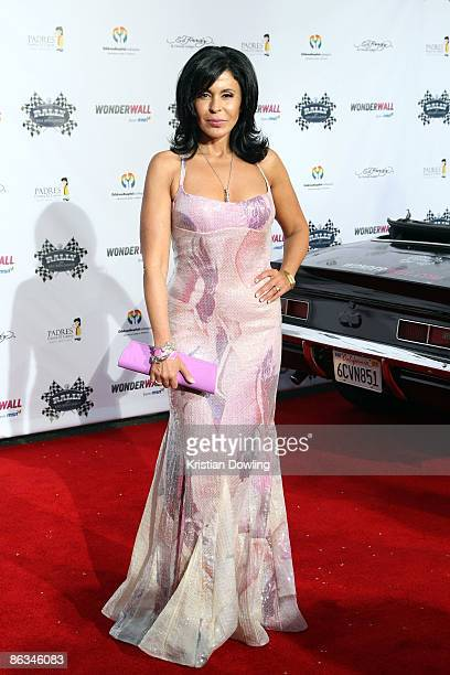 Actress Maria Conchita Alonso arrives for the Rally for Kids with Cancer 'The Qualifiers' Celebrity Draft Party at The Hollywood Roosevelt Hotel on...